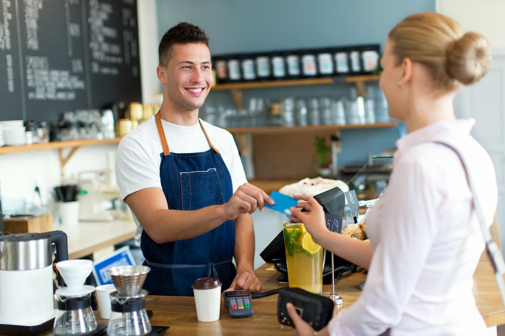 Pay at coffeeshop